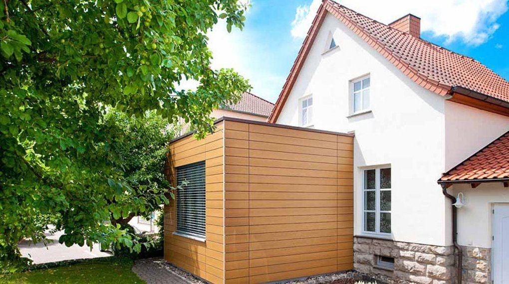 Flachdachanbau  Holzhaus Schlüsselfertig Bauen Planen Ausbauhaus von Anbau Aus Holz Kosten Bild