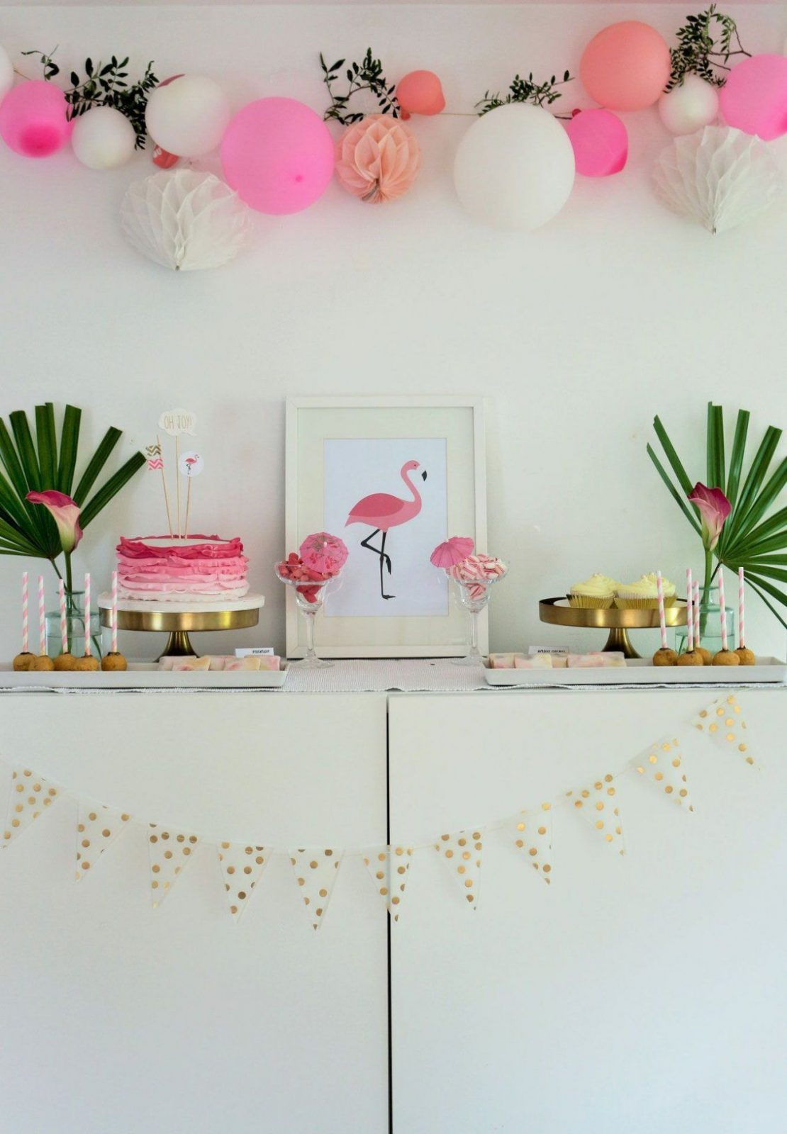 flamingoparty einfache diy pink und gold von deko ideen 30 geburtstag bild haus design ideen. Black Bedroom Furniture Sets. Home Design Ideas