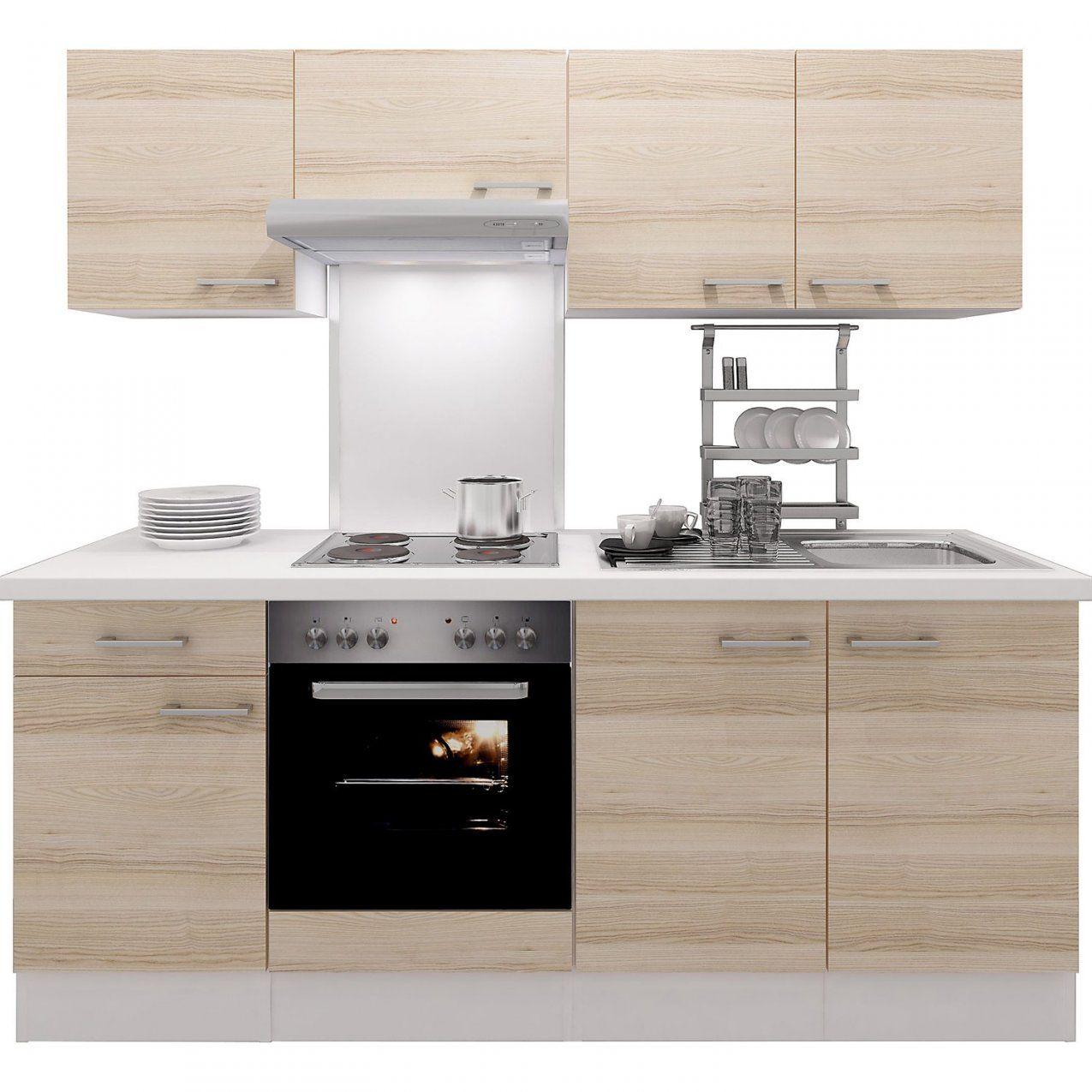 Flexwell Exclusiv Küchenzeile Akazia 210 Cm Akazie Nachbildungweiß von Küchenzeile 220 Cm Ohne Geräte Bild