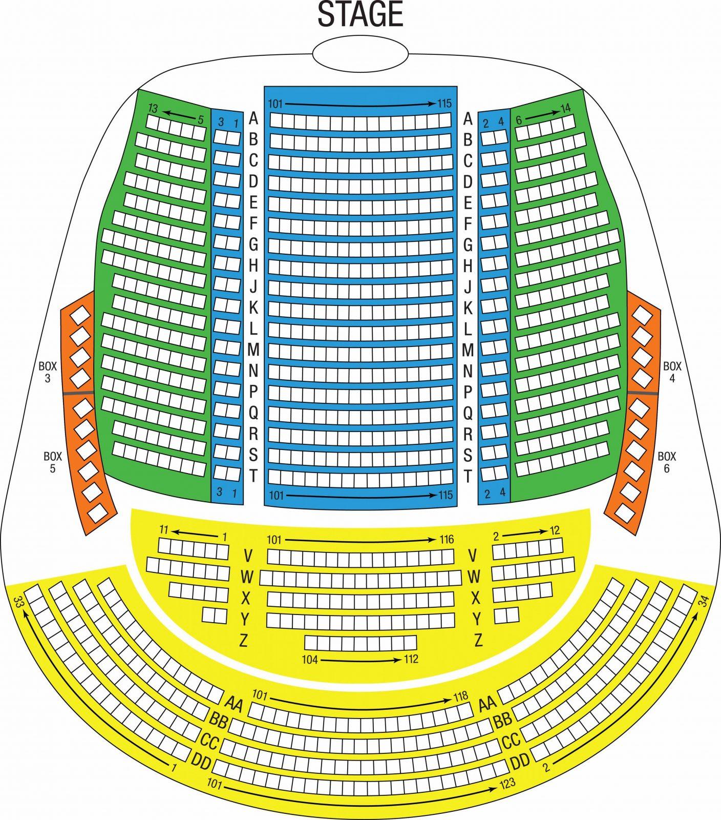 Florida Grand Opera von Adrienne Arsht Seating Chart Bild