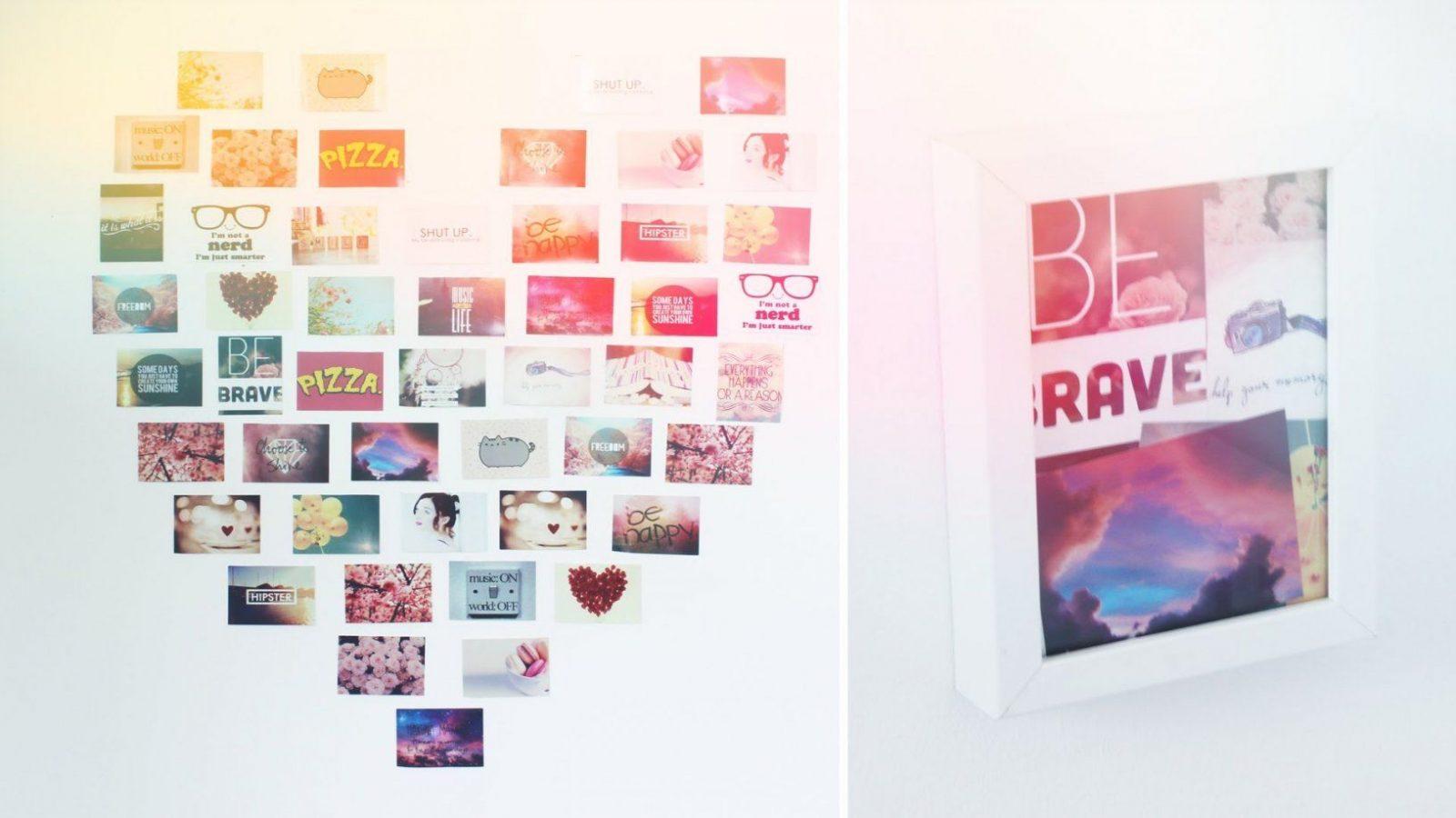 Fotocollage auf leinwand selber machen haus design ideen - Collage auf leinwand basteln ...