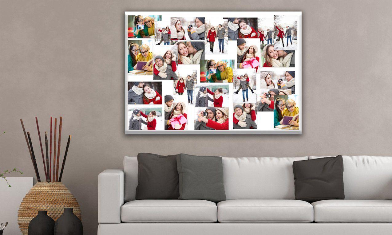 Fotocollage Wand Ideen Mit Fotos Auf Leinwand Leinwand Mit Von