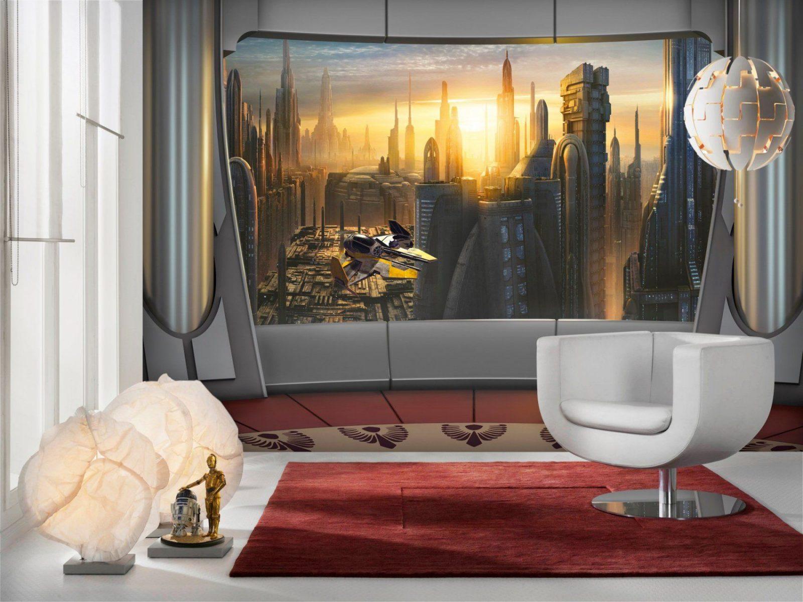 """Fototapete """"Star Wars Coruscant View"""" Von Komar  Disney Star Wars von Star Wars Kinderzimmer Einrichtung Bild"""