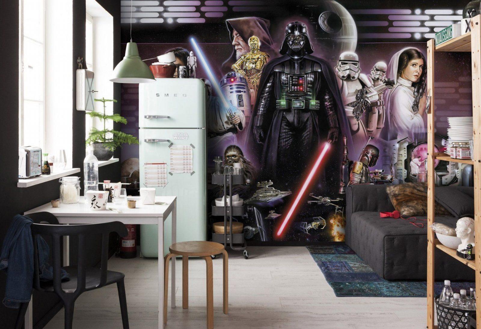 """Fototapete """"Star Wars Darth Vader Collage"""" Von Komar  Disney Star Wars von Star Wars Kinderzimmer Einrichtung Bild"""
