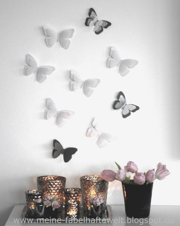 Frühling  Ganz Einfach Schmetterlinge Aus Tonpapier Basteln Meine von Schmetterlinge Wanddeko Selber Machen Bild