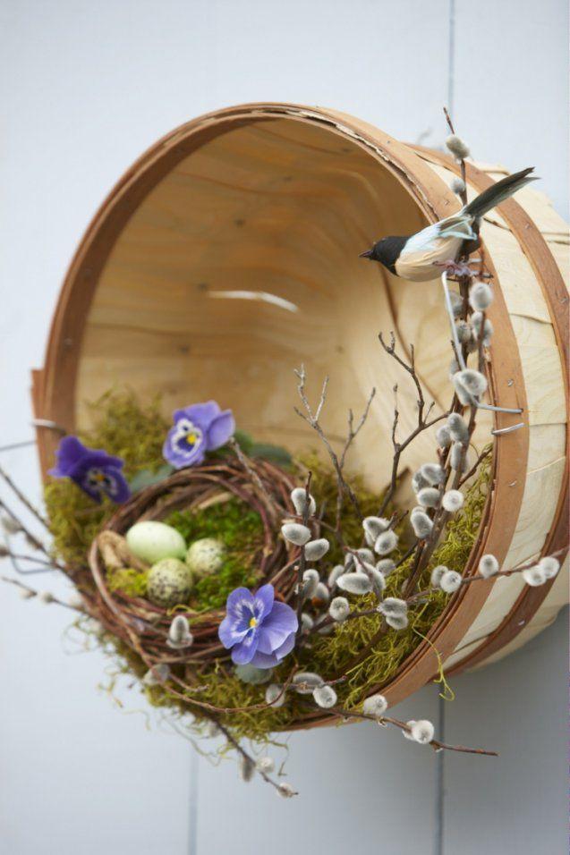 Frühlingsdeko Basteln Mit Naturmaterialien  Ideen Mit Holz Moos von Frühlingsdeko Basteln Mit Naturmaterialien Photo