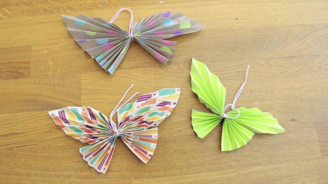 Frühlingsdeko Selber Machen Schmetterlinge Diy Schöneinpacken Von  Schmetterlinge Wanddeko Selber Machen Bild