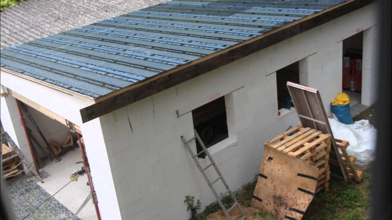 Garage Birkengrund  Youtube von Pultdach Garage Selber Bauen Bild