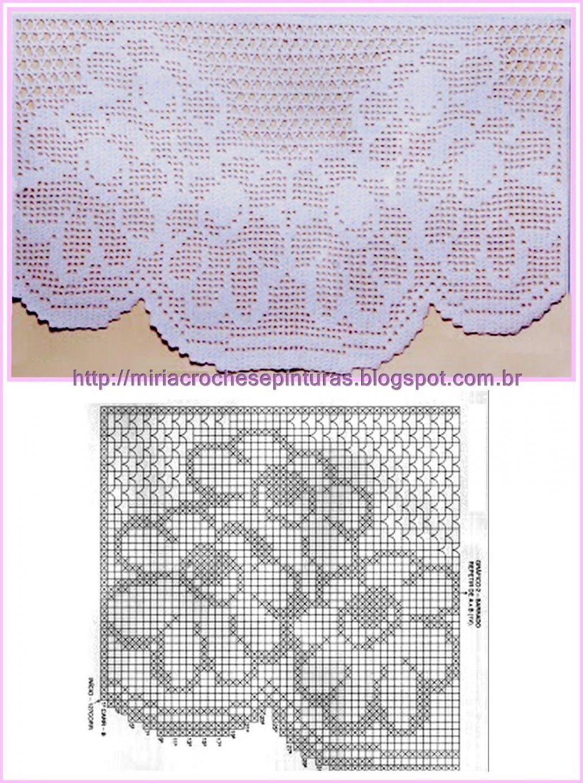 Gardine Häkeln  Crochet Curtain  Häkeln Gardinen  Crochet Curtain von Bistro Gardinen Selber Häkeln Bild