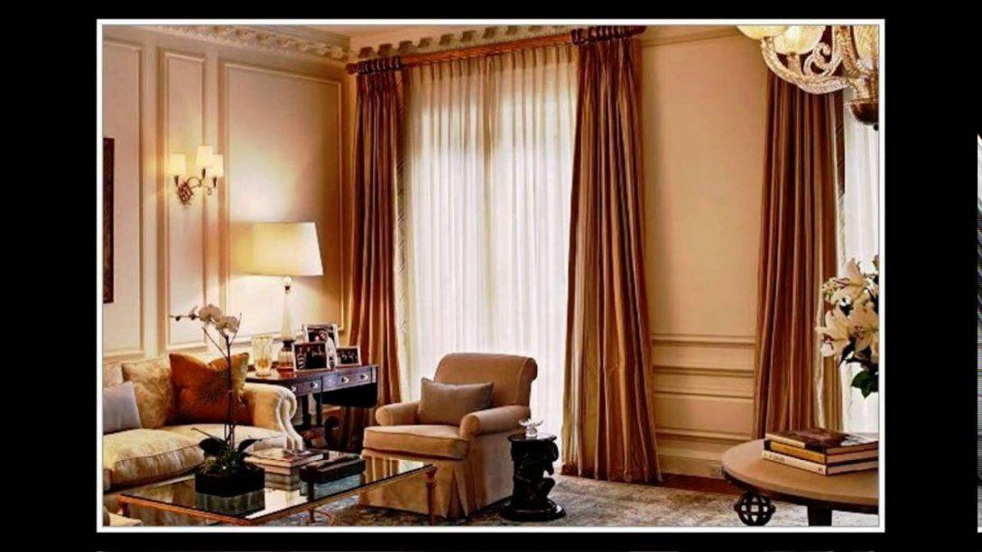 Gardinen Ideen Wohnzimmer Modern  Youtube von Moderne Gardinen Für Große Fenster Bild
