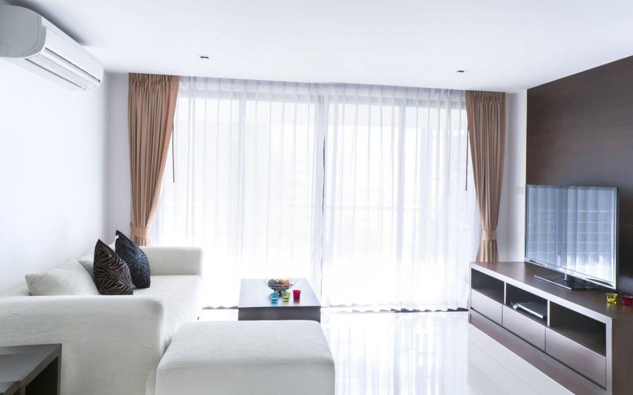 Gardinen Im Wohnzimmer von Gardinen Für Bodentiefe Fenster Bild
