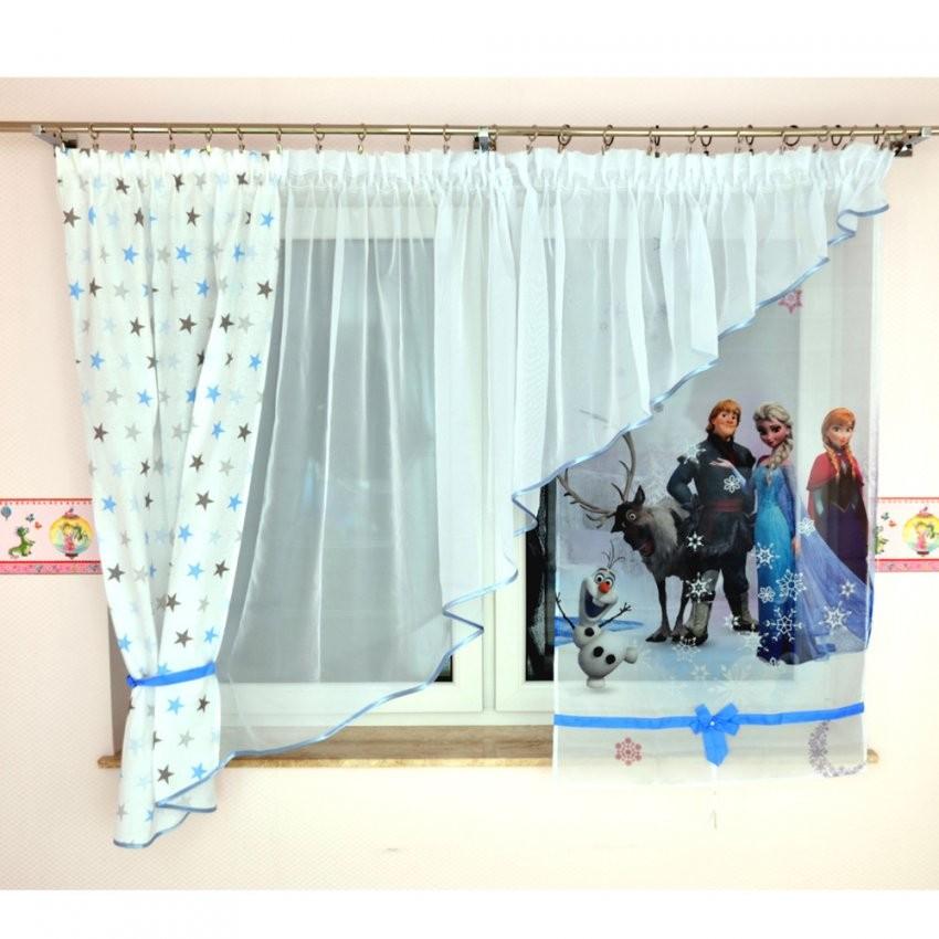 """Gardinen & Vorhänge  Kindergardine """"elsa & Anna"""" + Vorhang von Anna Und Elsa Gardinen Photo"""