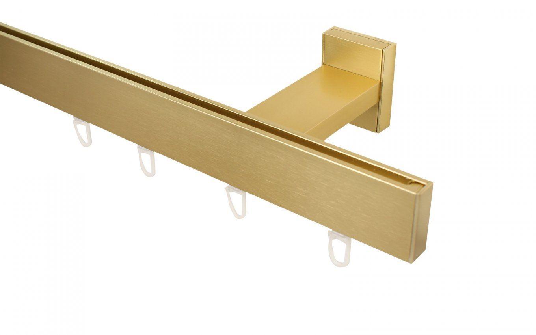Gardinenschienensystem Messing von Gardinenschiene 1 Läufig Deckenmontage Photo