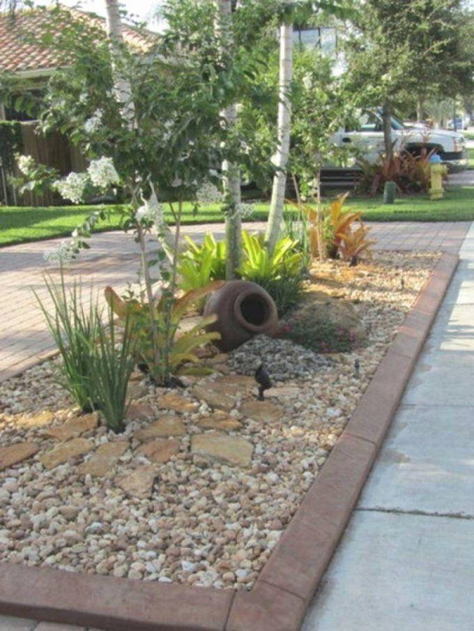 Garten Mit Steinen Gestalten Elegant Vorgarten Mit Kies Gestalten von Garten Mit Steinen Gestalten Photo