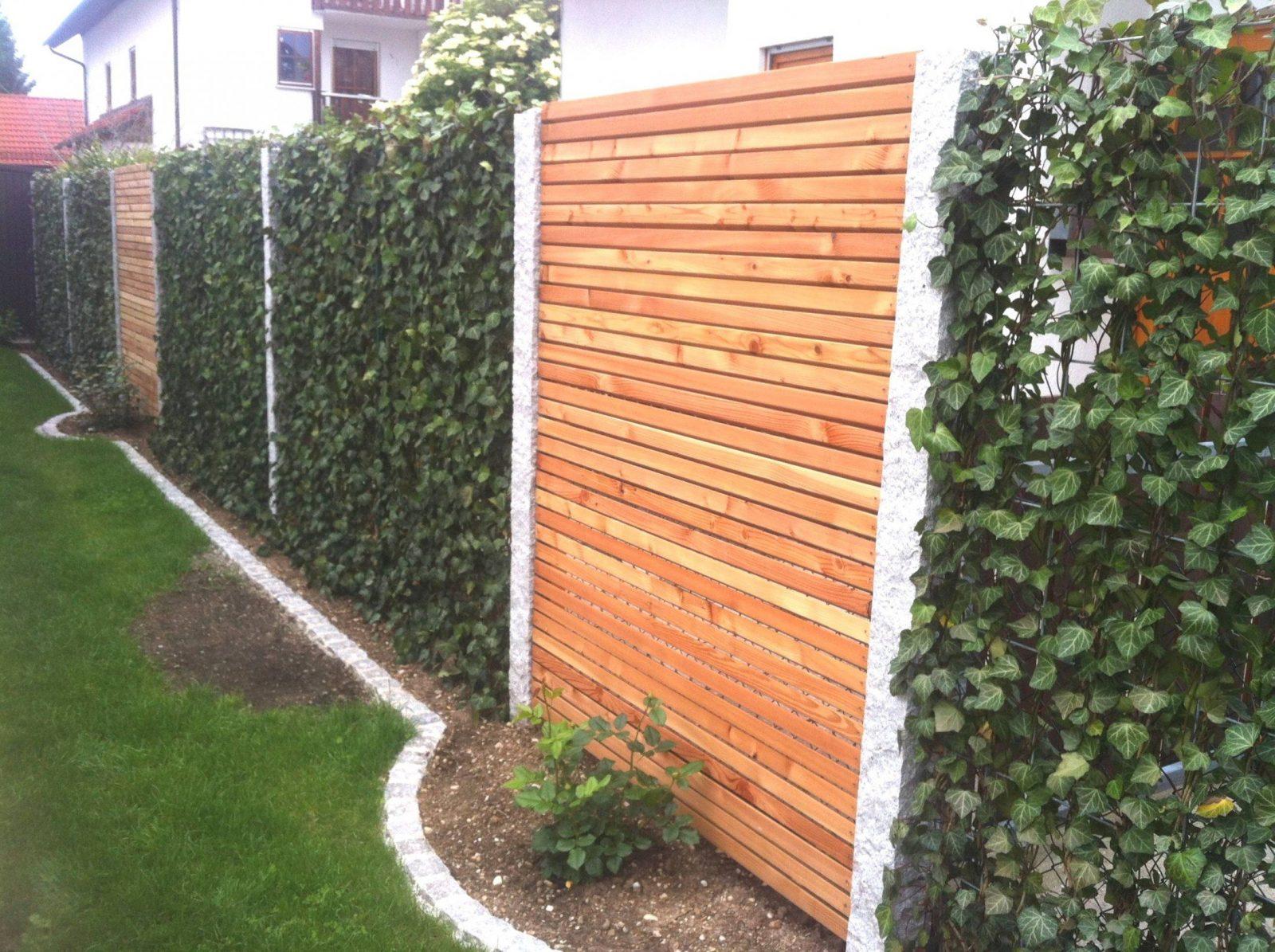 Garten Sichtschutz Holz Perfektes Konzept Einzigartig Kreativer von Garten Sichtschutz Selber Bauen Bild