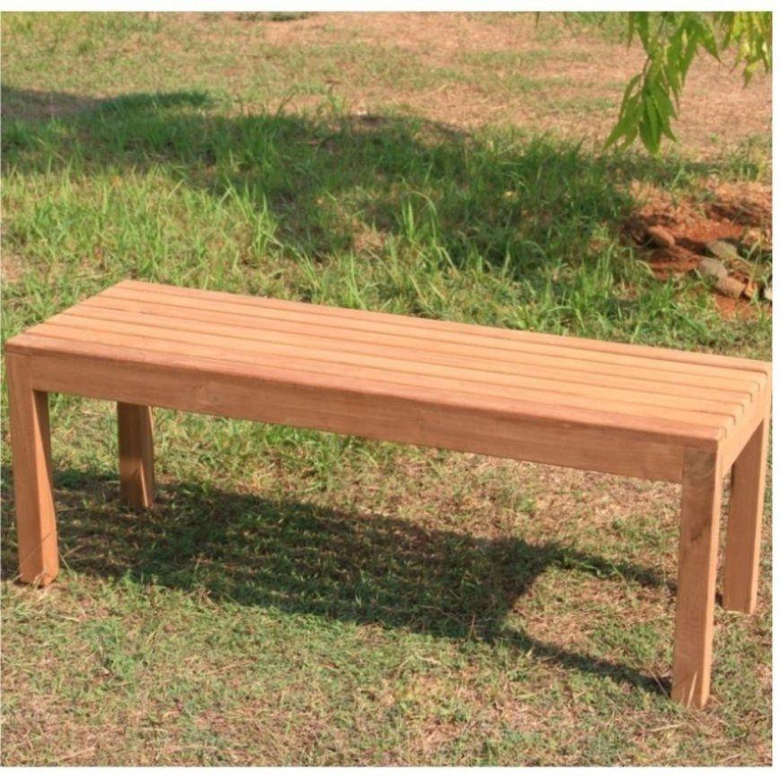 Gartenbank Holz Metall Ohne Lehne Weis Sitzer Gebraucht Rustikal von Gartenbank Holz Rustikal Selber Bauen Bild
