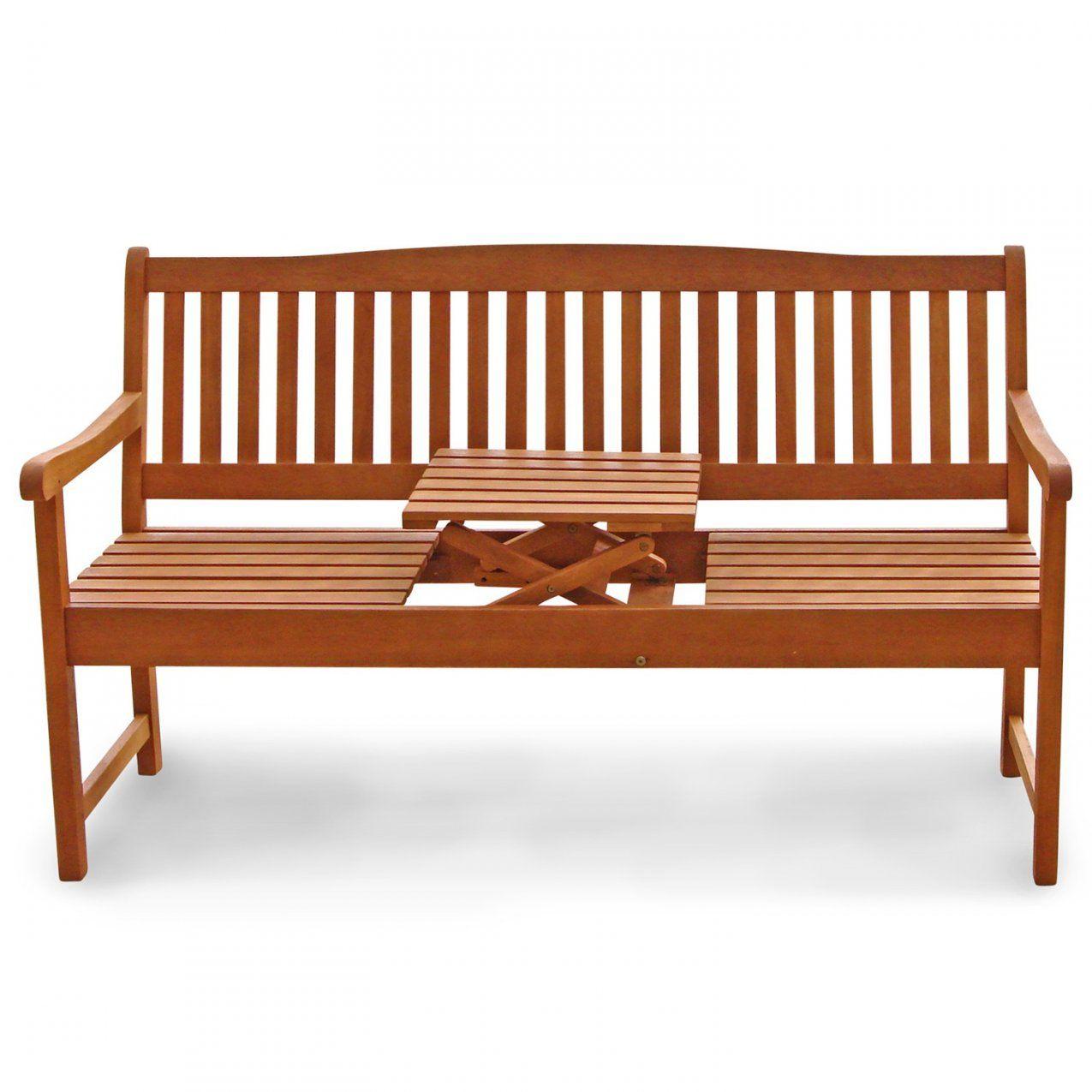 Gartenbank Mit Integriertem Klapptisch Aus Holz Ideal Für Picknick von Gartenbank Holz Mit Integriertem Tisch Bild