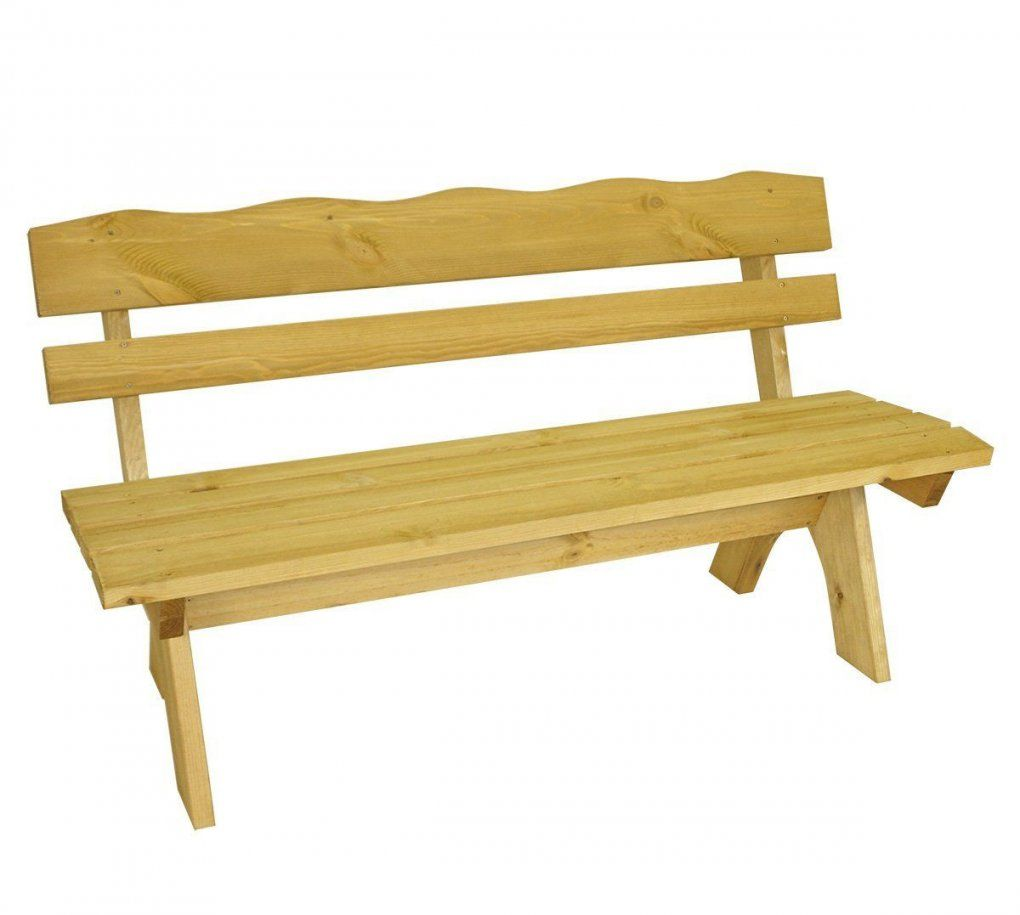 Gartenbank Rustikal Selber Bauen Freital 2 Sitzer Kiefer Massiv von Gartenbank Holz Rustikal Selber Bauen Bild