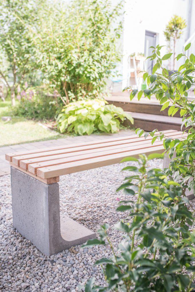 Gartenbank Selber Bauen Beton Mit Diy Gartenbank Mit Beton Und Holz von Gartenbank Selber Bauen Beton Bild