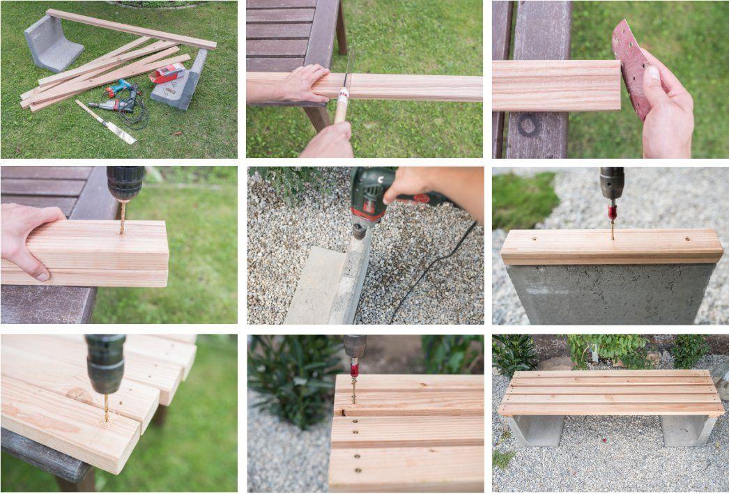 Gartenbank Selber Bauen Beton Mit Diy Gartenbank Mit Beton Und Holz von Gartenbank Selber Bauen Beton Photo