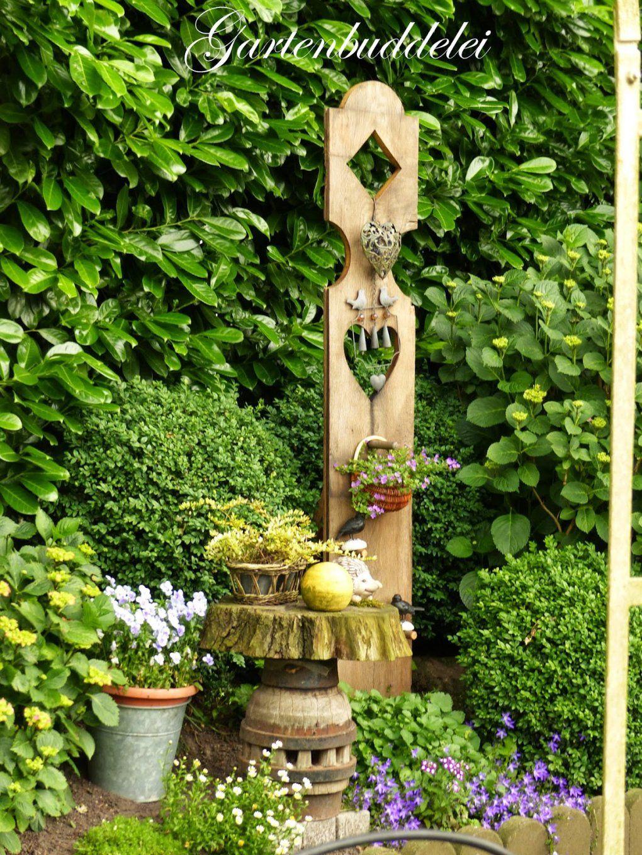 Gartenbuddelei Besuch In Fremden Gärten Teil 3 Von Holzstelen Für