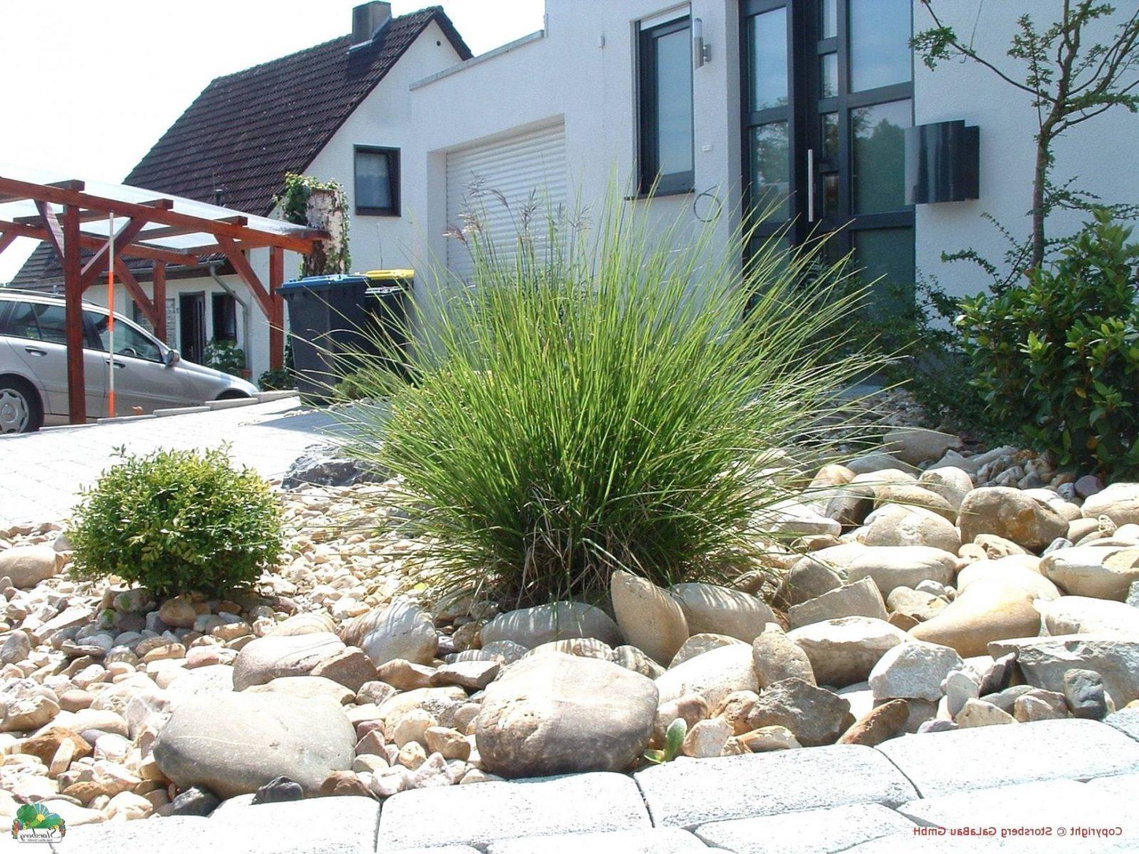 Gartengestaltung Bilder Modern Von Vorgarten Gestalten Mit Kies Und von Vorgarten Gestalten Mit Kies Und Gräsern Bild
