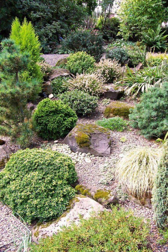 Gartengestaltung Mit Kies Und Splitt  Anlage Und Pflege von Gartengestaltung Mit Kies Und Splitt Bild