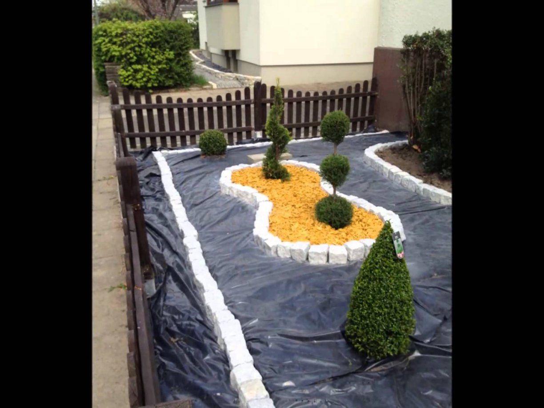 Gartengestaltung Mit Rollkies von Beet Mit Kies Gestalten Photo