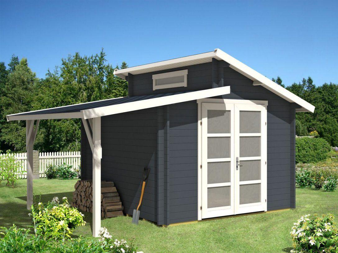Gartenhaus Aktiva28 Mit Schleppdach  Schleppdach Gartenhäuser Und von Pultdach Garage Selber Bauen Bild