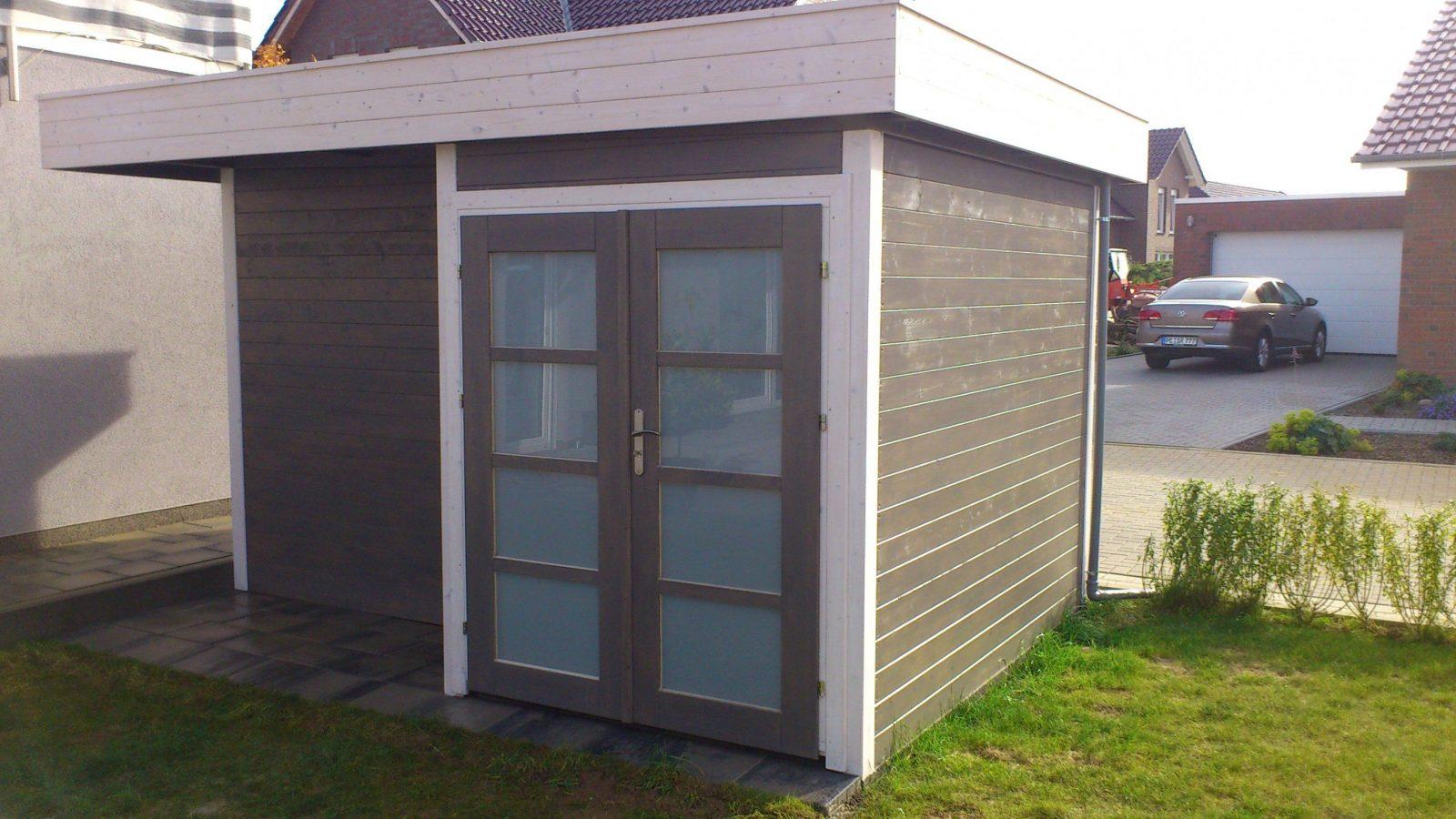 Gartenhaus Bauen Ob Modern Mit Pultdach Oder Flachdach Avec Modernes von Pultdach Garage Selber Bauen Photo