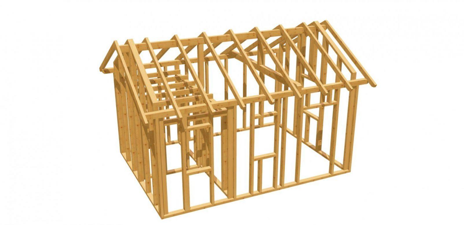 Gartenhaus Bauplan  Holzbauplan von Gartenhaus Selber Bauen Video Bild