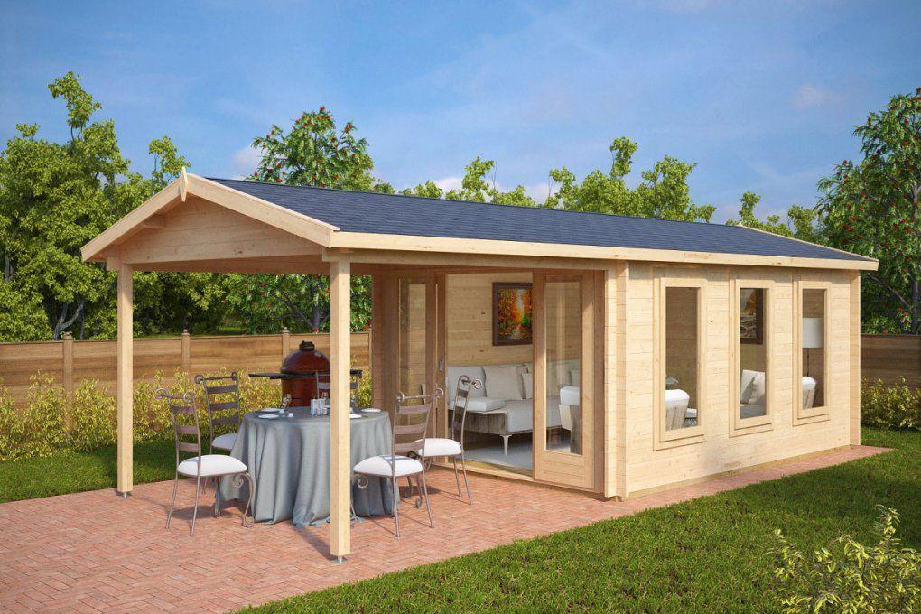 Gartenhaus Mit Sonnendach Eva E 12M²  44Mm  3X4  Hansagarten24 von Gartenhaus Mit Terrasse Aus Polen Photo
