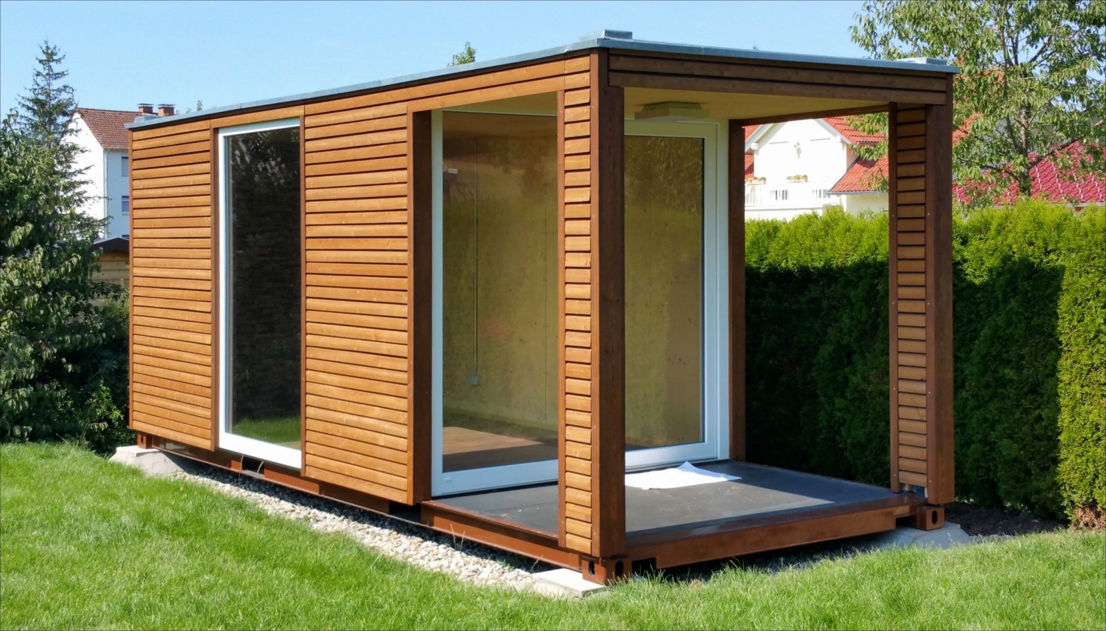 gartenhaus modern selber bauen haus design ideen. Black Bedroom Furniture Sets. Home Design Ideas