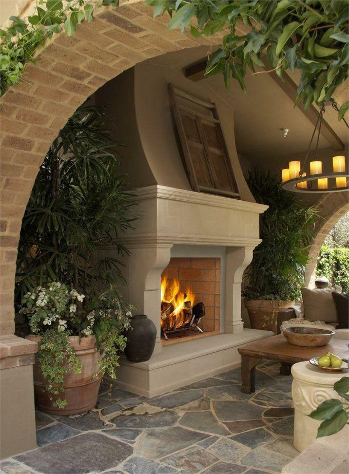 Gartenkamin Bauen  29 Ideen Für Stilvolles Ambiente Auf Der Terrasse von Gartenkamin Aus Stein Selber Bauen Photo