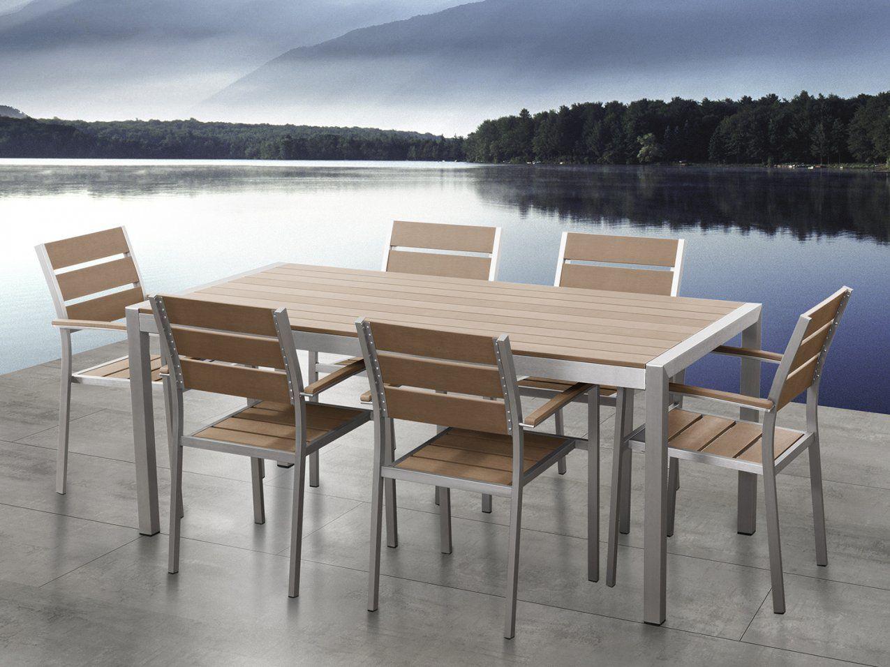 Gartenmöbel Aluminium Tisch + 6 Stühle Gartentisch Gartenstuhl von Gartentisch Mit 6 Stühlen Photo