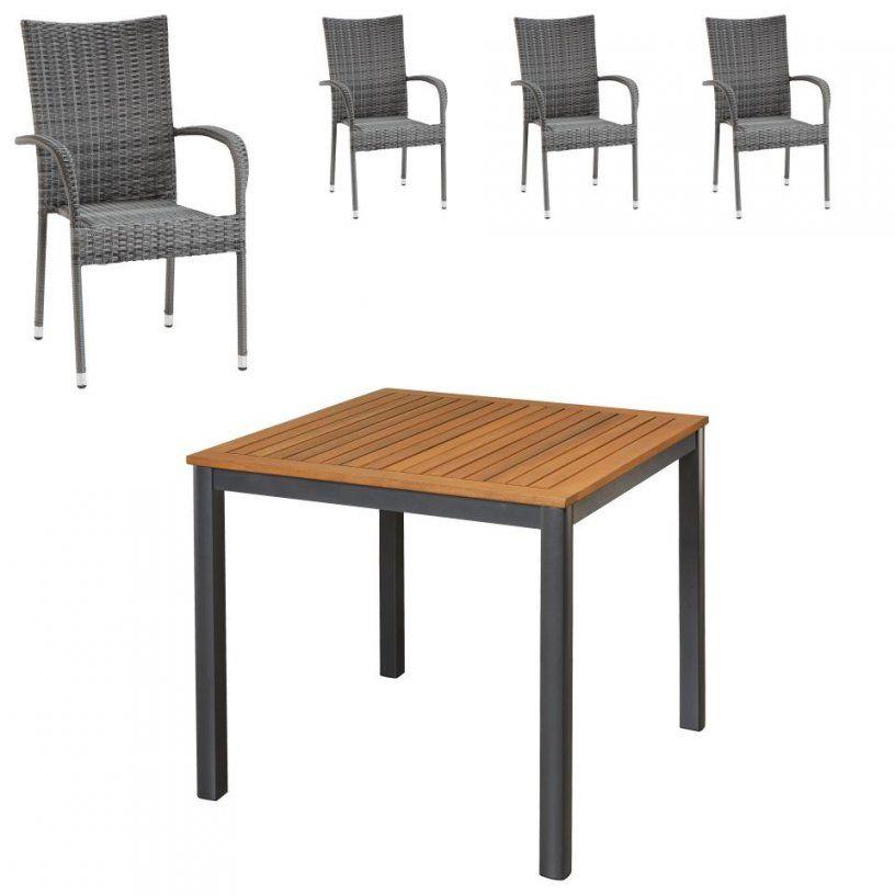 Gartenmöbelset San Franciscopalermo (90X90 4 Stühle Grau von Gartentisch 90X90 Dänisches Bettenlager Photo