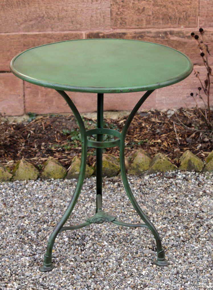 Gartentisch Arras Rund Von Replicata  Eisen Patiniert  Replikate von Gartentisch Rund 60 Cm Bild