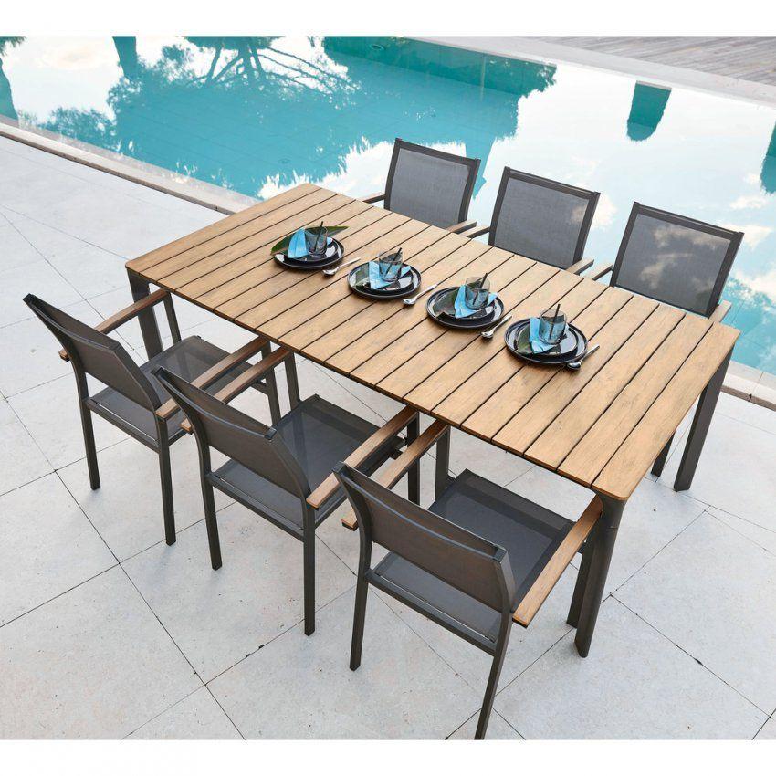 Gartentisch Für 68 Personen Aus Verbundmaterial Und Aluminium L200 von Gartentisch Mit 6 Stühlen Photo