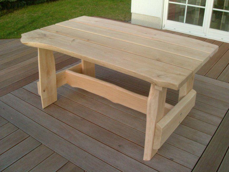 Gartentisch Holz Rustikal von Gartentisch Holz Massiv Rustikal Bild