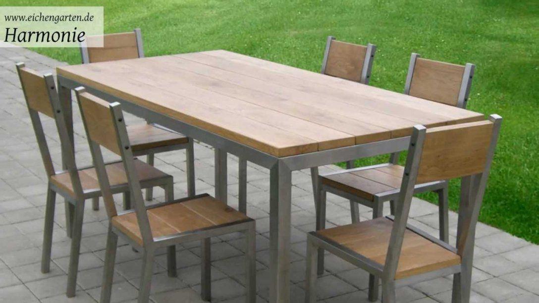 Gartentisch Holz Selber Bauen Mit Gartentisch Holz Metall Selber von Bauholz Gartenmöbel Selber Bauen Bild