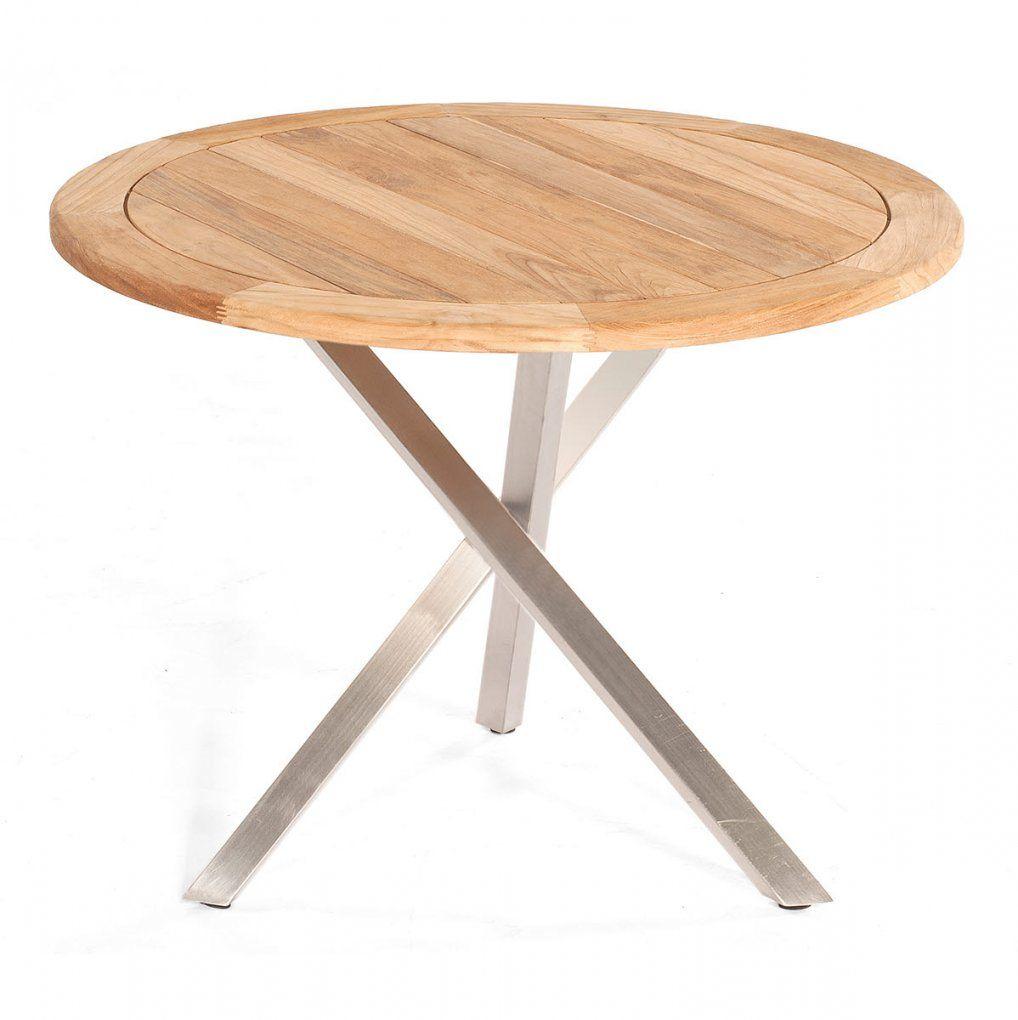 Gartentisch Rund Holz  Ambiznes von Gartentisch Rund 80 Cm Durchmesser Photo
