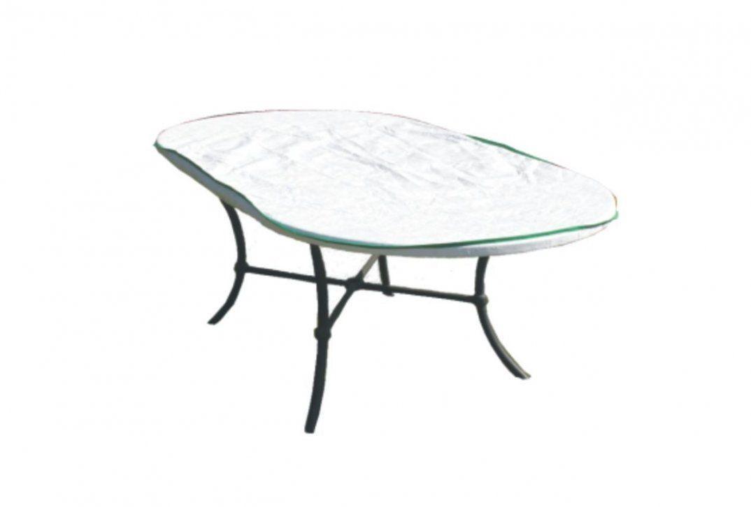 Gartentisch Schutzhülle Oval Exklusiv In Tyvek Weiss Kurz Mit von Gartentisch Abdeckung 200 X 100 Photo
