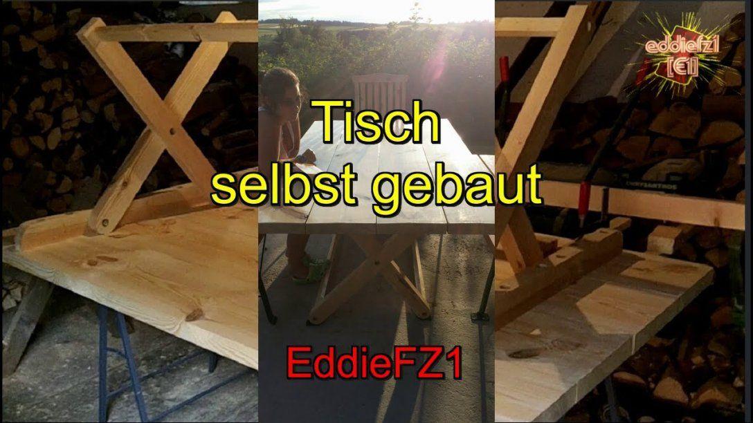 Gartentisch Selbst Bauen  Youtube von Untergestell Tisch Selber Bauen Photo
