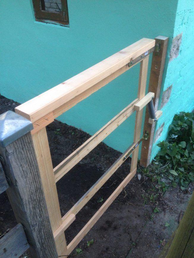 Gartentor In 60 Minuten Bauen  Der Kellerwerker von Gartentor Holz Selber Bauen Photo