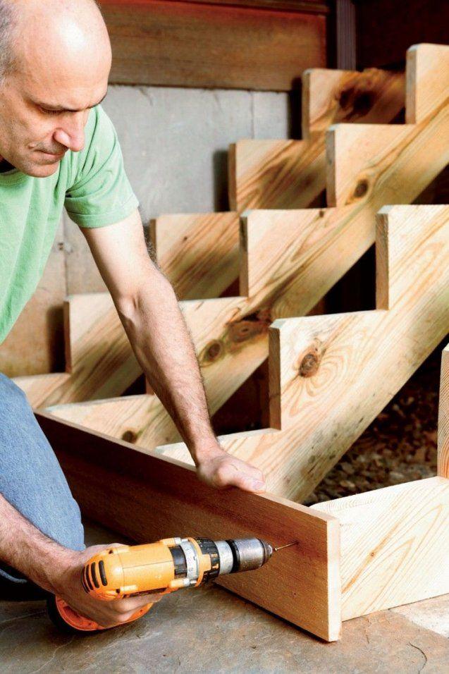 Gartentreppe Aus Holz Selberbauenanleitungsetzstufen von Außentreppe Holz Selber Bauen Bild