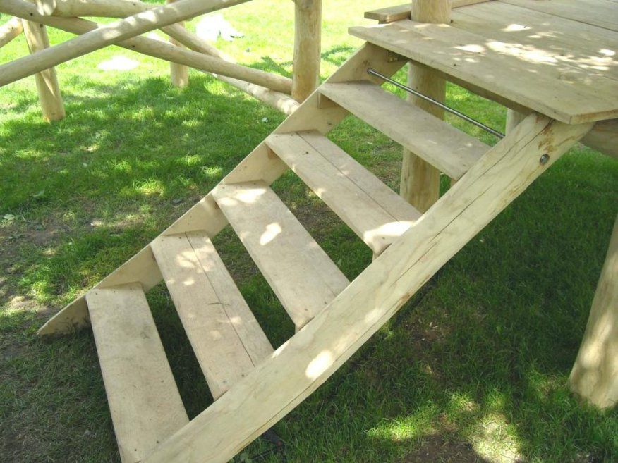 Gartentreppe Bauen Holz Aus Selber Anleitung Und Beispiele Treppen von Außentreppe Holz Selber Bauen Photo