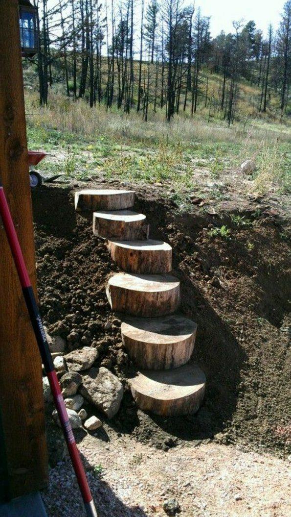 Gartentreppe Holz – Gartenideen Mit Treppen von Treppe Im Garten Selbst Bauen Photo