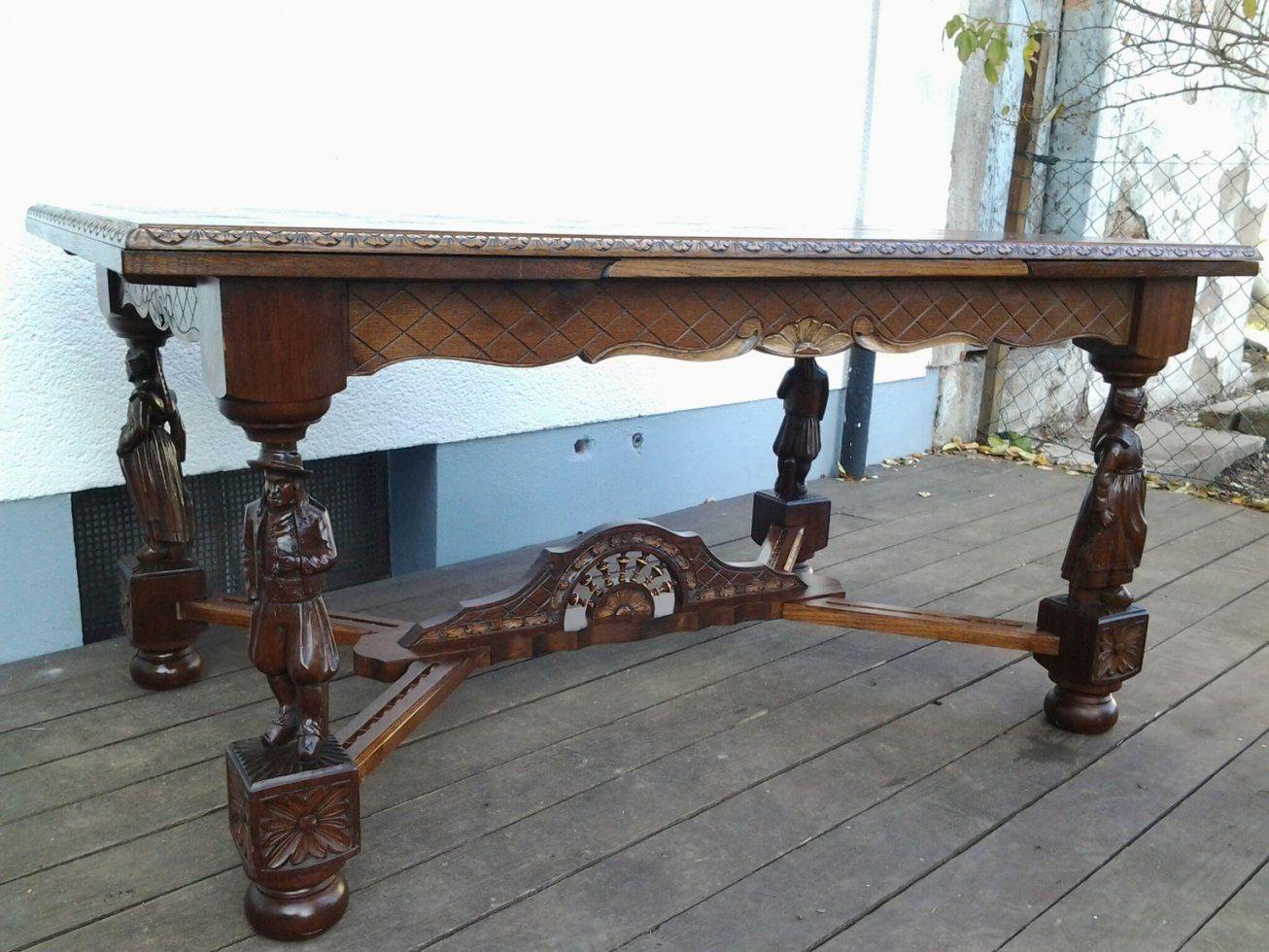 Gebraucht Antiker Esstisch Ausziehbar Mit 6 Stühlen In 66882 von Antiker Esstisch Mit Stühlen Photo