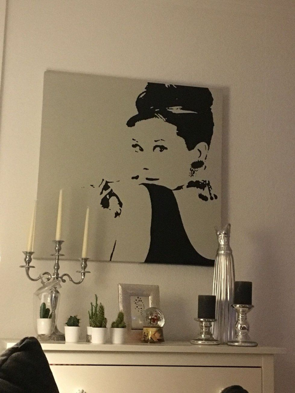 Gebraucht Audrey Hepburn Bild Ikea Leinwand Schwarz In 23843 Bad von Audrey Hepburn Bild Ikea Photo