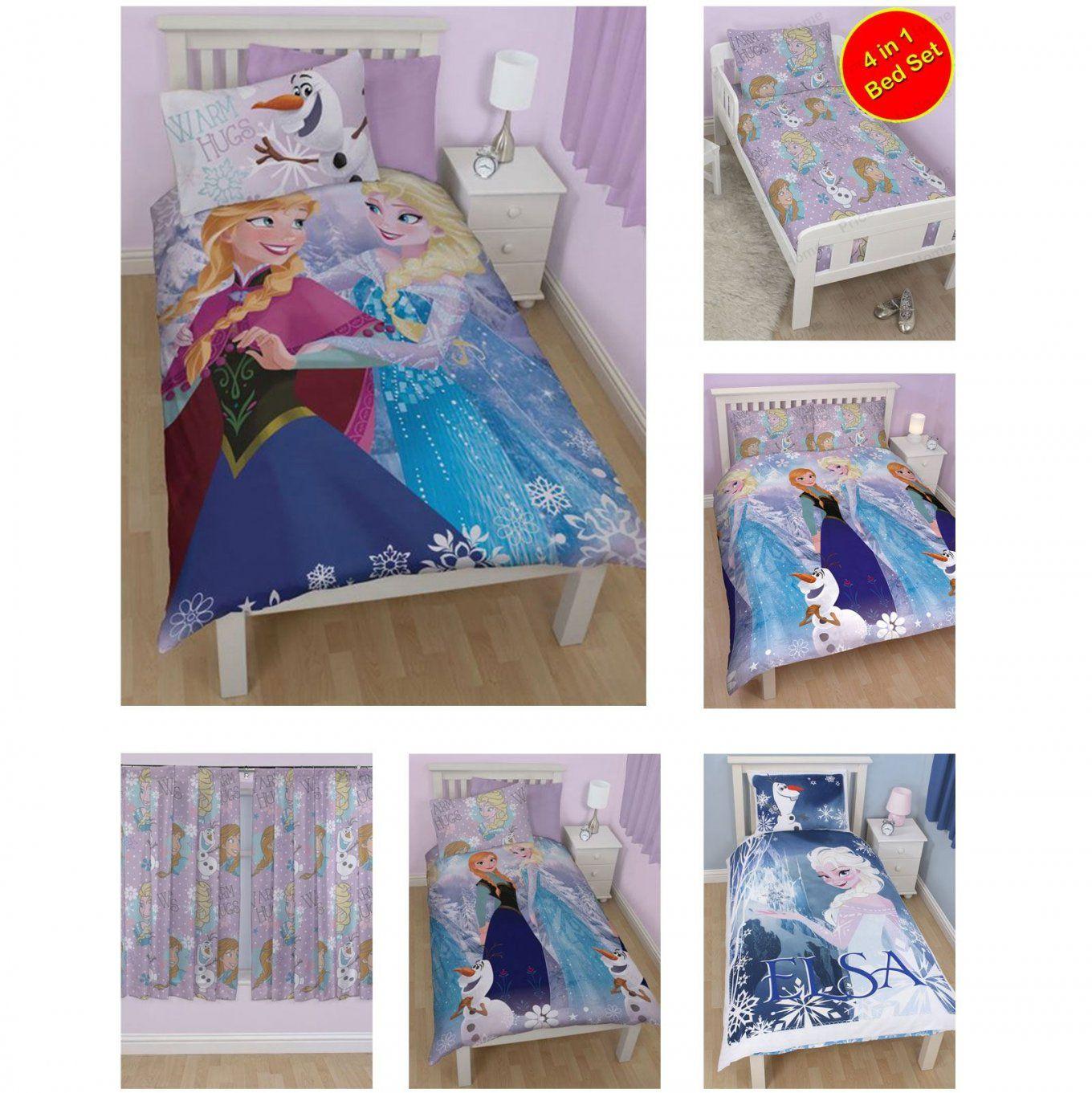 Gefrorenes Kleinkind Bettwaesche Set  Dibinekadar Decoration von Anna Und Elsa Gardinen Bild